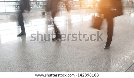 Passengers in Shanghai Pudong International Airport Airport