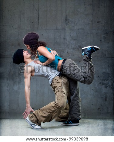Passion dance couple. - stock photo