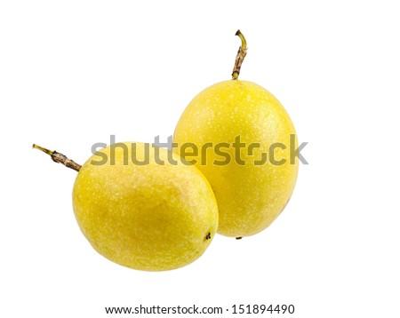 Passion fruit isolated on white background - stock photo