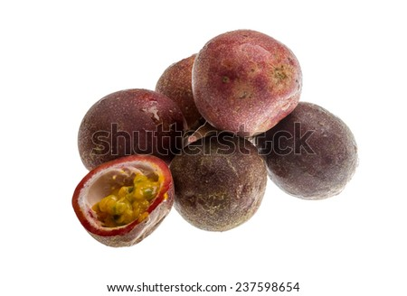 Passion fruit - maracuja isolated on white