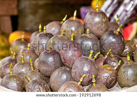 Passion fruit on the marketplace, Nairobi, Africa. - stock photo