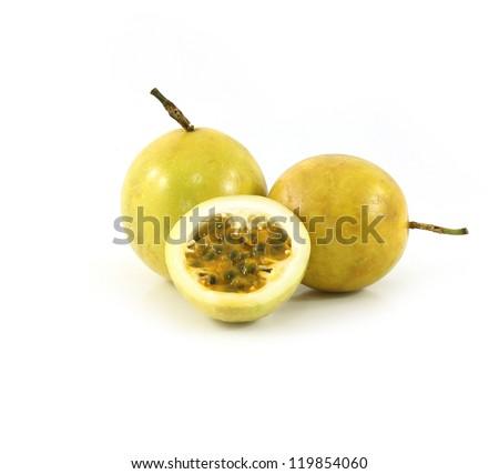 Passion fruit or maracuya - stock photo