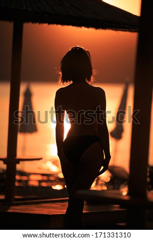 Passion sunset/Silhouette  - stock photo