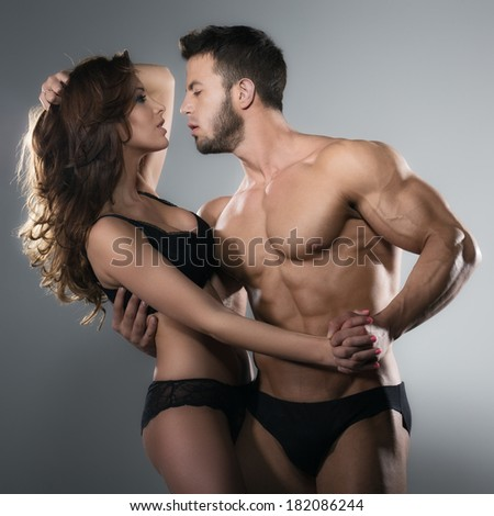 Passion woman and man - stock photo