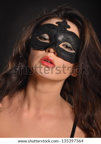 Passion woman in mask