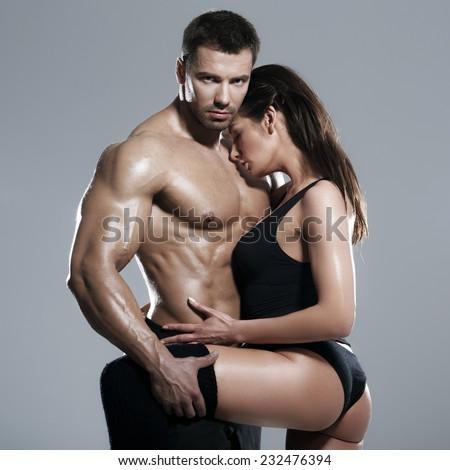 Passionate couple  - stock photo