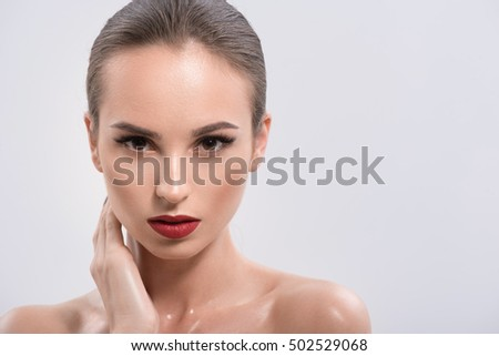 Passionate girl with perfect make-up