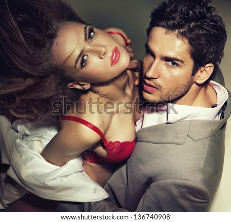 Passionate lovers - stock photo