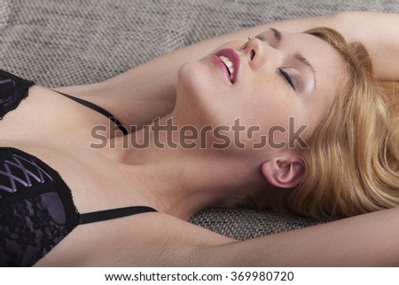 passionate woman in underwear  - stock photo