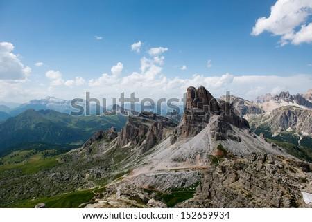 Passo Giau - Dolomites - Italy - stock photo
