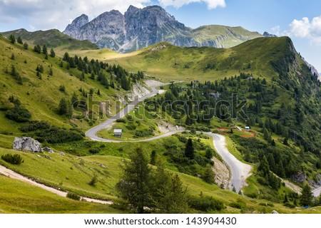 Passo Giau - Dolomites, Italy, Europe - stock photo