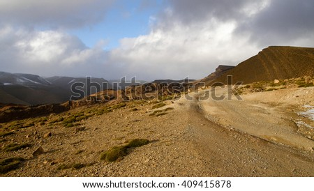 Passo Tizi n' Ouano - stock photo