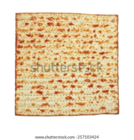 passover background. matzoh (jewish passover bread) isolated  - stock photo