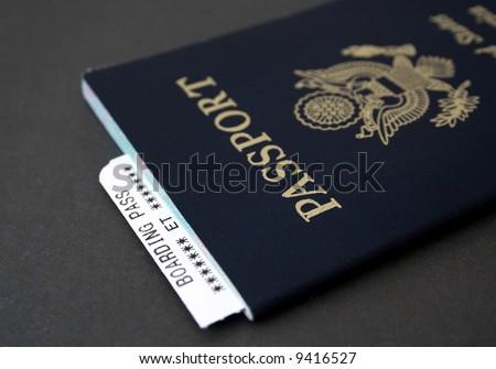 Passport and Boarding Pass - stock photo