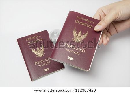 passport control - stock photo