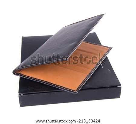 passport cover on a background. - stock photo