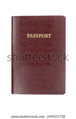 passport isolated on white background - stock photo