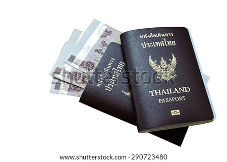Passport isolated on white background