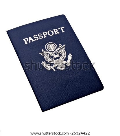 Passport on isolated background
