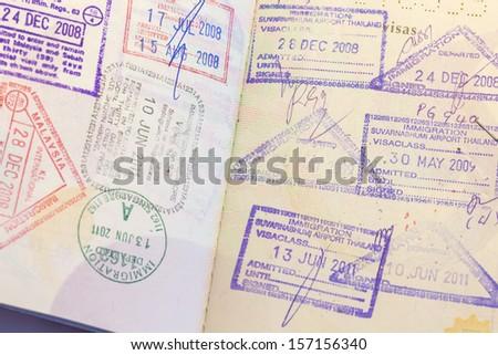 Passport Stamp - stock photo