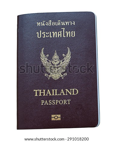 Passport Thai isolated on white background