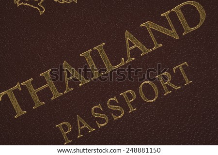 Passport Thailand for travel concept background - stock photo
