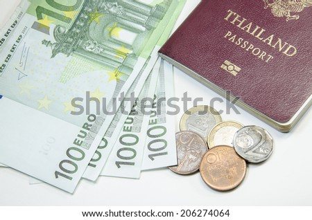 passport with bank notes