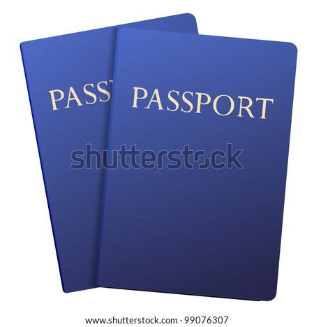 passports isolated on white.