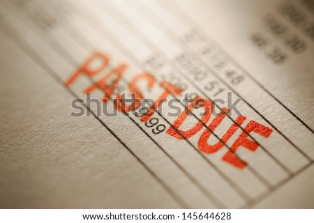 Past due statement - stock photo
