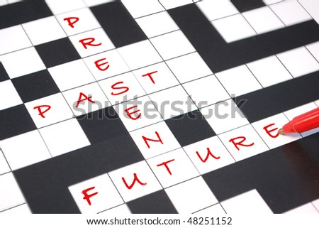 Past, present, and future - stock photo