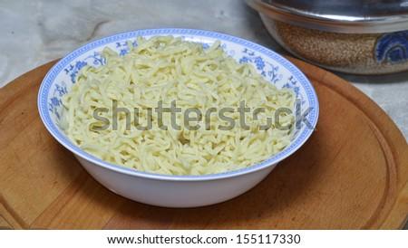 Pasta cooked - stock photo