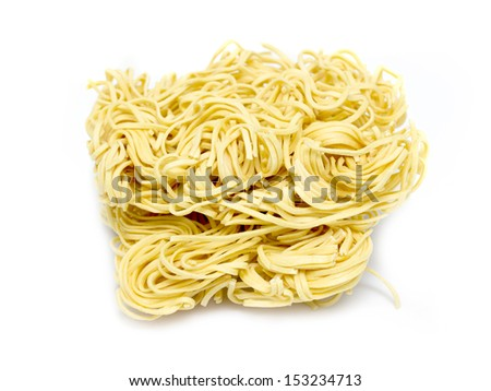 pasta noodles on a white background