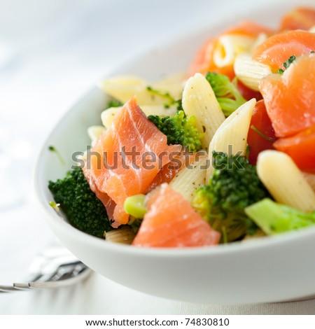 Pasta Salad With Smoked Salmon And Broccoli