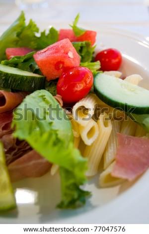 Pasta Sallad - stock photo