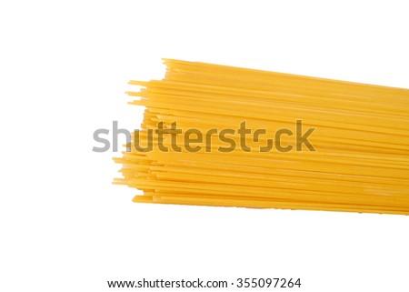 Pasta spaghetti isolated on a white background.  - stock photo