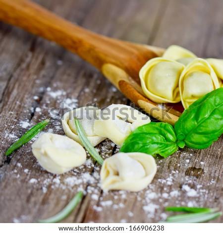 pasta tortellini - stock photo