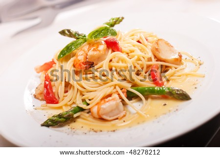 pasta with seafoods