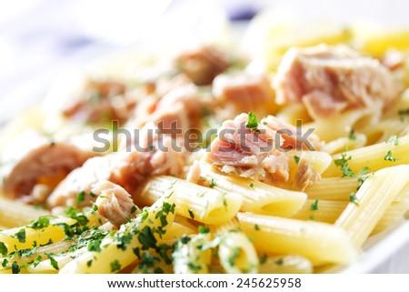 Pasta with Tuna - stock photo