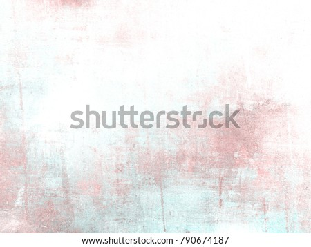 Pastel background in soft pink watercolor fading to white - abstract vintage spring texture