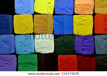 pastel chalk background - stock photo
