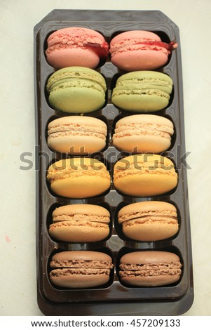 Pastel colored macarons