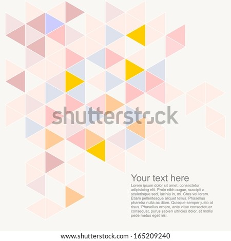 Pastel Colorful Background Empty Space Text Stock Illustration ...