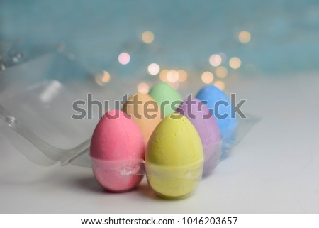 Pastel Decorative Eggs. Easter Background