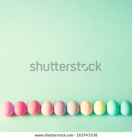Pastel Easter Eggs - stock photo