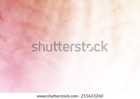 pastel gradient with cloudscape abstract background - stock photo