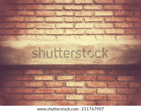 Pastel mood Old grunge block brick wall background with retro effect filter - texture