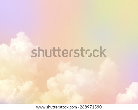 Pastel on clouds