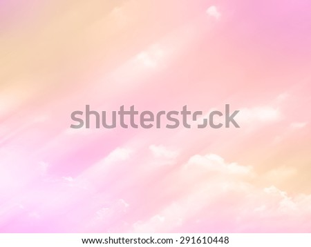 Pastel on clouds - stock photo