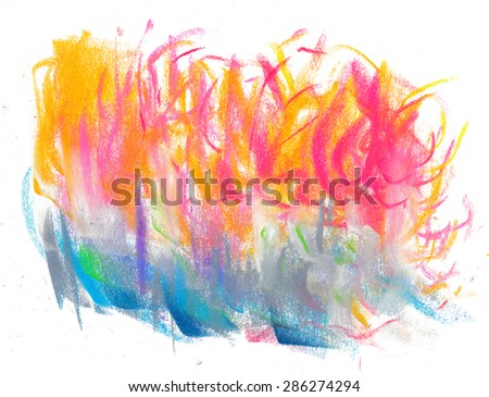 Pastel painting. Creative abstract background. Hand drawn. Art backdrop.