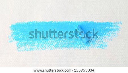 pastel stick dust on white paper - stock photo